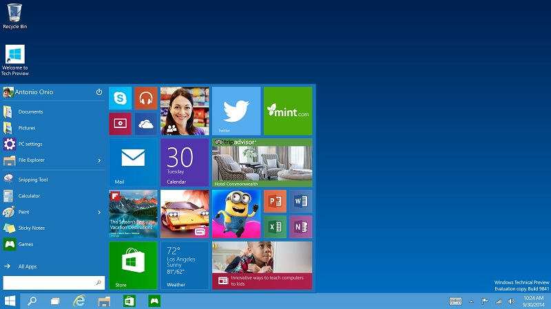 7 New Features in Windows 10
